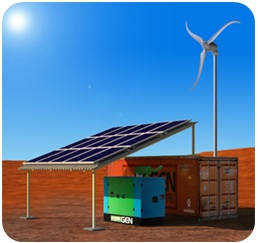 Wind-diesel hybrid system for rural electrification image