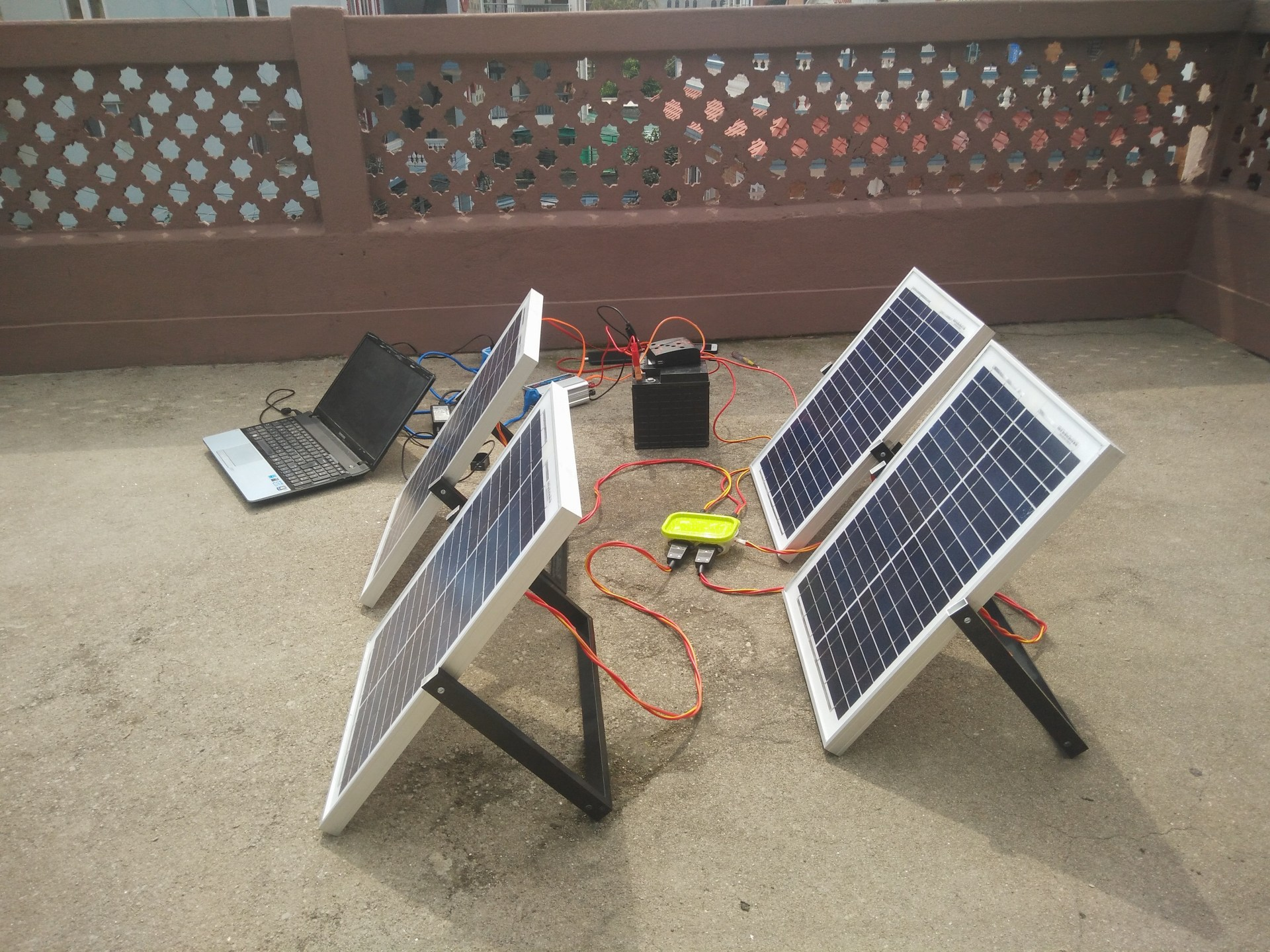 Portable Solar Kit for Mountaineering Expedition image